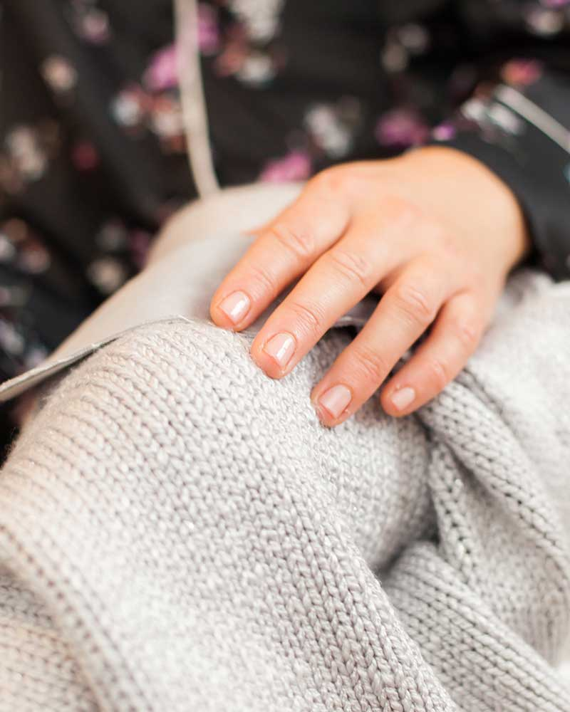 hand-on-blanket