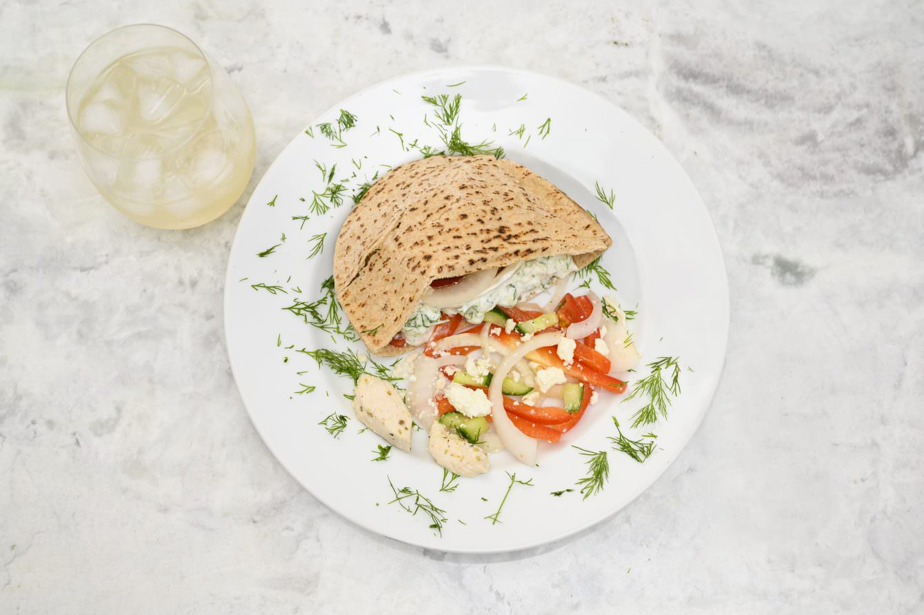 cW Recipes: Mediterranean Chicken Pitas with Tzatziki