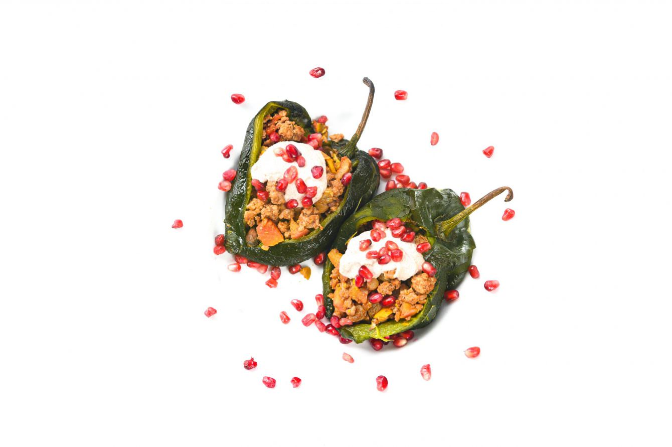 cW Recipes: Chiles in Nogada (Stuffed Chiles with White Sauce)