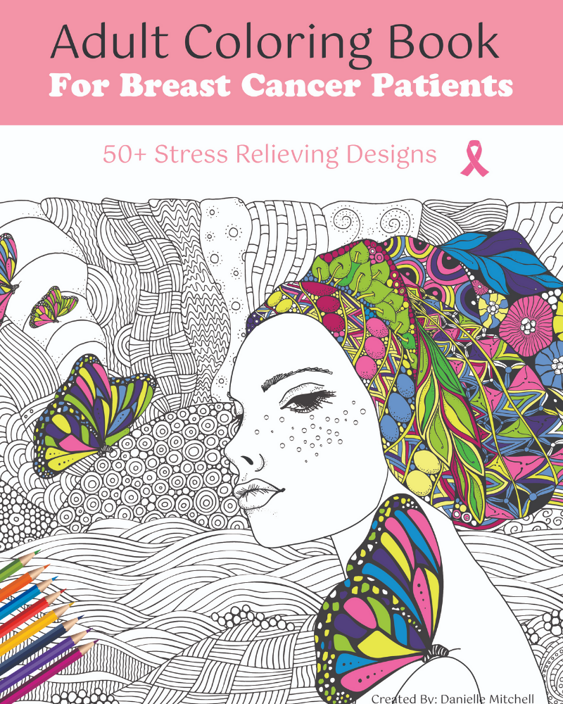 Adult Coloring Book for Breast Cancer Patients