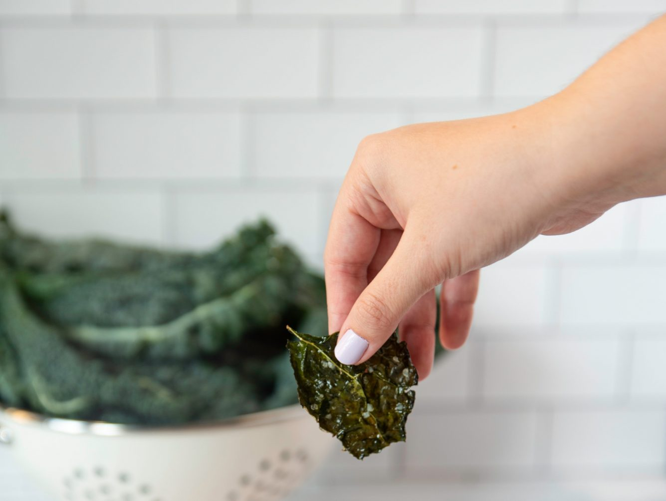 KALE CHIPS WITH GRATED PARMESAN